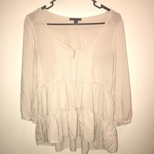 American Eagle White Pilgrim Top
